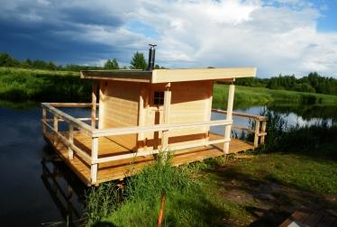 Log houses